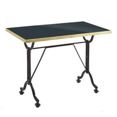 Ardamez - Table de repas rectangulaire-Ardamez-Table de repas émaillée anthracite / laiton