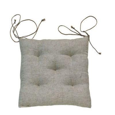 Interior's - Galette de chaise-Interior's-Galette de chaise beige lin