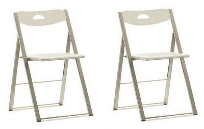 Domitalia - Chaise pliante-Domitalia-Lot de 2 chaises pliantes ICON blanche.