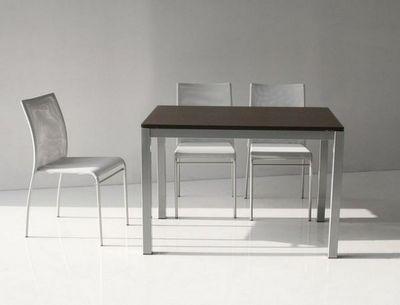 WHITE LABEL - Table de repas rectangulaire-WHITE LABEL-Table repas extensible MAJESTIC 130 x 80 cm wenge
