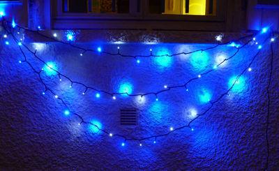 FEERIE SOLAIRE - Guirlande lumineuse-FEERIE SOLAIRE-Guirlande solaire 30 Leds Blanches 30 Leds Bleues