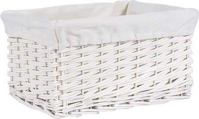 Aubry-Gaspard - Panier de rangement-Aubry-Gaspard-Corbeille de rangement osier blanc