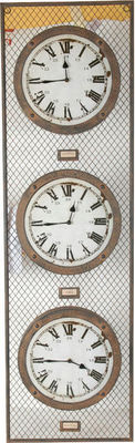 Antic Line Creations - Horloge murale-Antic Line Creations-Horloge London Paris New York