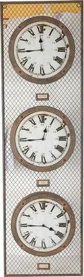 Antic Line Creations - Horloge murale-Antic Line Creations-Horloge London Paris New York