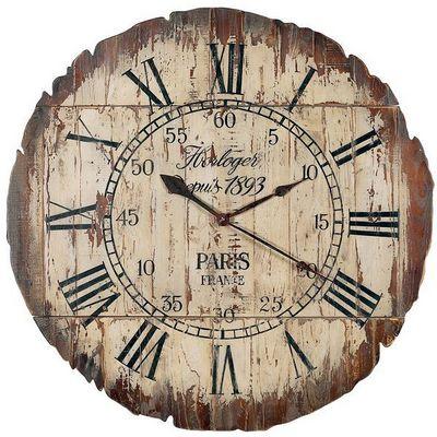 Interior's - Horloge murale-Interior's-Horloge bois Paris pliable