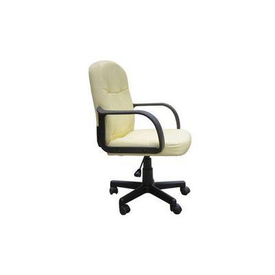 WHITE LABEL - Fauteuil de bureau-WHITE LABEL-Chaise de bureau classique crème