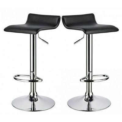 WHITE LABEL - Chaise haute de bar-WHITE LABEL-Lot de 2 Tabourets de bar noir