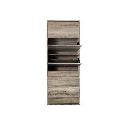 WHITE LABEL - Meuble à chaussures-WHITE LABEL-Meuble armoire à chaussure bois tiroirs