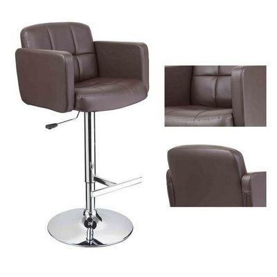WHITE LABEL - Chaise haute de bar-WHITE LABEL-2 tabouret de bar ergonomique cuir PU