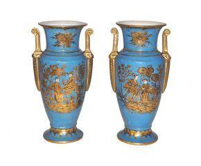 Demeure et Jardin - Vase d�coratif-Demeure et Jardin-Vases turquoise style empire
