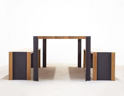 MALHERBE EDITION - Table de repas rectangulaire-MALHERBE EDITION-Banc Trek
