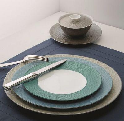 Raynaud - Assiette plate-Raynaud-Minéral Irisé