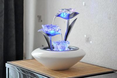 ZEN LIGHT - Fontaine d'intérieur-ZEN LIGHT-Fontaine d'intérieur Irida avec éclairage