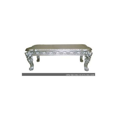 DECO PRIVE - Table basse rectangulaire-DECO PRIVE-Table basse baroque en bois argent� Mod�le Lion