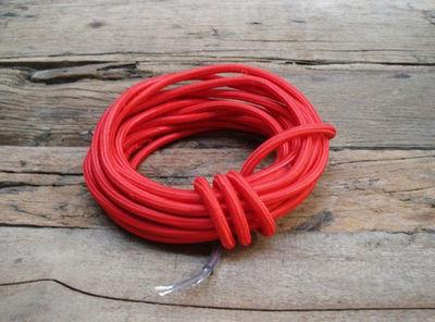 COMPAGNIE DES AMPOULES A FILAMENT - Cable électrique-COMPAGNIE DES AMPOULES A FILAMENT-Cable Textile Rouge
