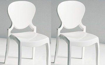 WHITE LABEL - Chaise-WHITE LABEL-Lot de 2 chaises design LIGHT en plexiglas blanche