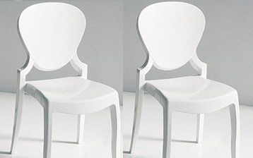 WHITE LABEL - Chaise-WHITE LABEL-Lot de 2 chaises design LIGHT en plexiglas blanche