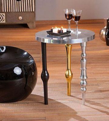WHITE LABEL - Table d'appoint-WHITE LABEL-Table d'appoint MANGA en aluminium