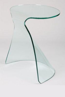 WHITE LABEL - Bout de canap�-WHITE LABEL-Bout de canap� IRIS en verre courb�