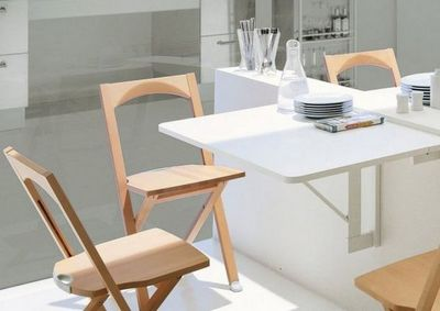 Calligaris - Table pliante-Calligaris-Table pliante QUADRO de CALLIGARIS blanche