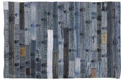 Aubry-Gaspard - Tapis contemporain-Aubry-Gaspard-Tapis en jeans recyclé Ceintures
