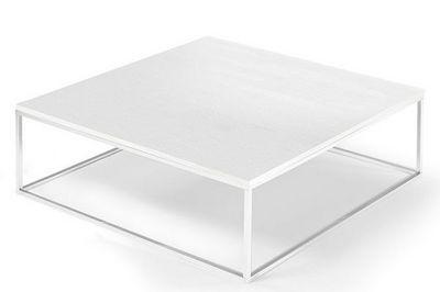 WHITE LABEL - Table basse carrée-WHITE LABEL-Table basse carrée MIMI blanc céruse
