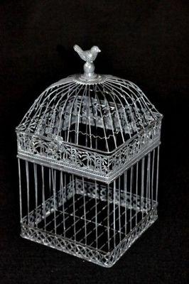 Demeure et Jardin - Cage à oiseaux-Demeure et Jardin-Belle Cage Patine Grise