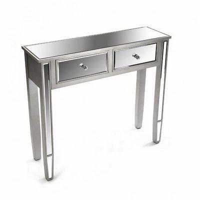 WHITE LABEL - Console-WHITE LABEL-MARSALA Console design en bois 2 tiroirs