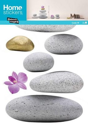 Nouvelles Images - Sticker-Nouvelles Images-Sticker mural pierre zen
