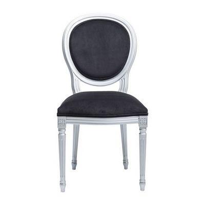 Kare Design - Chaise-Kare Design-Chaise noir/argent Rockstar by Geiss