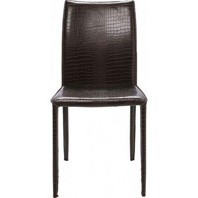Kare Design - Chaise-Kare Design-Chaise en cuir Milano Croco