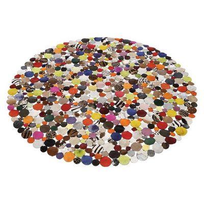 Kare Design - Tapis contemporain-Kare Design-Tapis Patchwork Circle Multi 150 cm