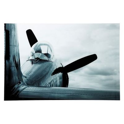 Kare Design - Tableau décoratif-Kare Design-Tableau en Verre Airplane 80x120cm