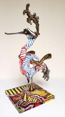 ARTBOULIET - Sculpture animalière-ARTBOULIET-Poignée de piaf
