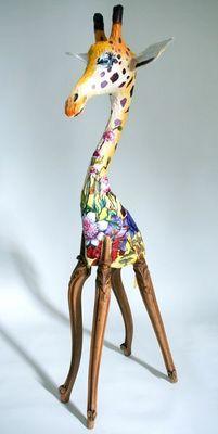 ARTBOULIET - Sculpture animalière-ARTBOULIET-Girafon