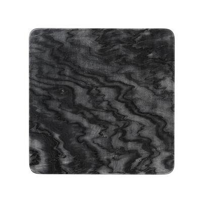 LOUISE ROE COPENHAGEN - Assiette plate-LOUISE ROE COPENHAGEN-Marble Plate Black