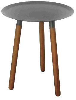 Delorm design - Bout de canapé-Delorm design-Bout de canapé rond bois et métal