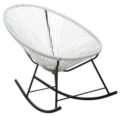 Aubry-Gaspard - Rocking chair-Aubry-Gaspard-Fauteuil à bascule en polyrésine blanc