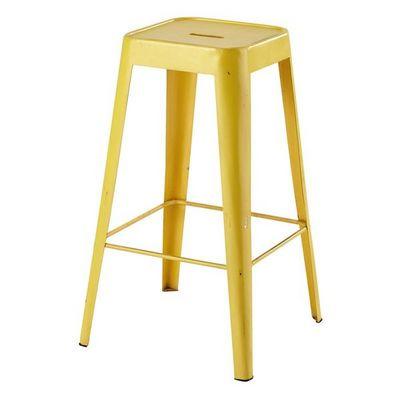 tabouret de bar en m tal jaune tomtabouret de bar jaune. Black Bedroom Furniture Sets. Home Design Ideas