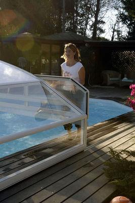 Abrideal - Abri de piscine bas coulissant ou télescopique-Abrideal-BRIO TCO