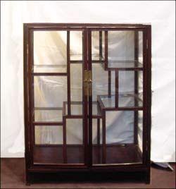 Antoine Gossart - Vitrine basse-Antoine Gossart-Paire de vitrines en bois de huanghuali