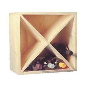BARCLER - Caisse à bouteilles-BARCLER-Casier de rangement 16 bouteilles en epicéa 40x40x
