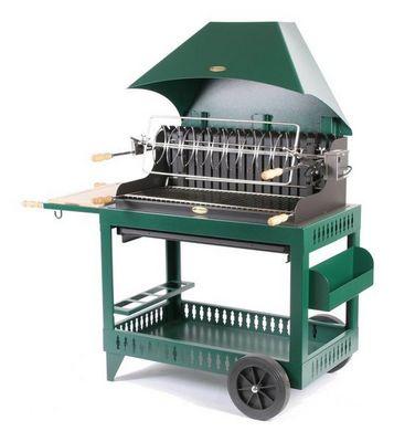 Le Marquier - Barbecue au charbon-Le Marquier-IROULEGUY  S/CHARIOT ACIER - VERT