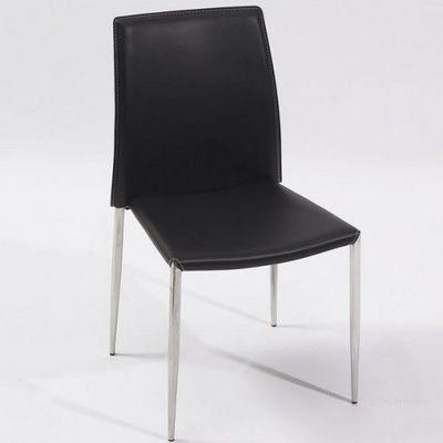 LE RÊVE CHEZ VOUS - Chaise-LE RÊVE CHEZ VOUS-Nouveauté ! Chaise de Séjour Design NOIRE pieds en