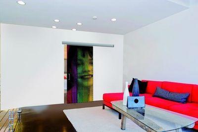 Mantion - Porte de communication vitrée-Mantion-Personnalisez votre porte grâce à une photo, logo