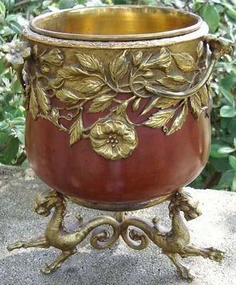 Antiquité Bosetti - Cache-pot-Antiquité Bosetti-BRONZE Napoléon III