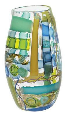 Tracy Glover Objects & Lighting - Vase à fleurs-Tracy Glover Objects & Lighting-Waterman Vase in blue greens