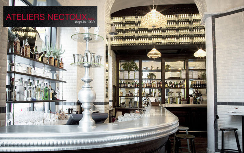 ATELIERS NECTOUX COMPTOIR EN ETAIN Bar counter Bars Tables and Misc.  |