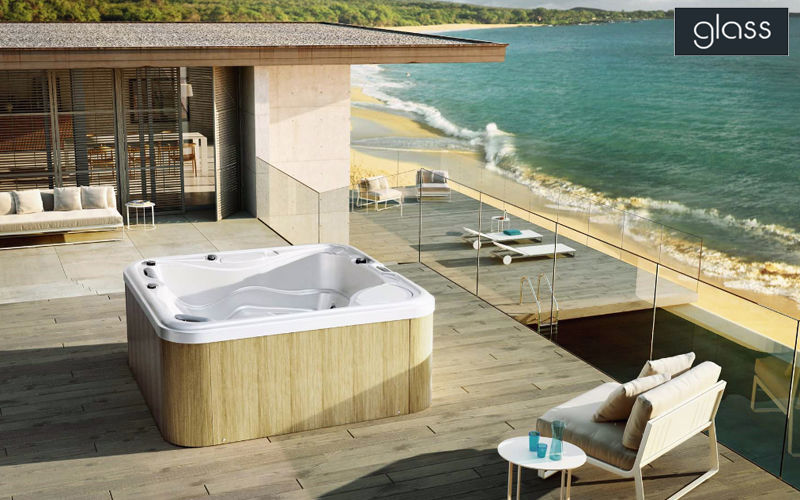 GLAss  Spas Swimming pools and Spa Balcony-Terrace | Design Contemporary
