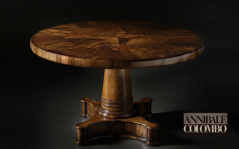 ANNIBALE COLOMBO Round diner table Dining tables Tables and Misc.  | Classic